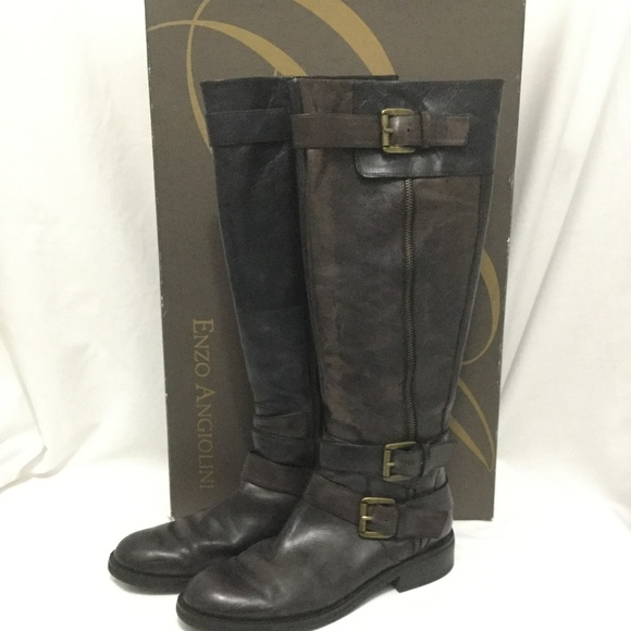 8a511059bd3 Enzo Angiolini Boots Easaylem Knee High 8.5